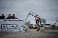 Laurens Sweeck (BEL/ERA-Murprotec) attacking the sand stroke<br /> <br /> Jaarmarktcross Niel 2015  Elite Men & U23 race