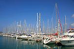 Israel, Herzliya, Sailboats at the Marina