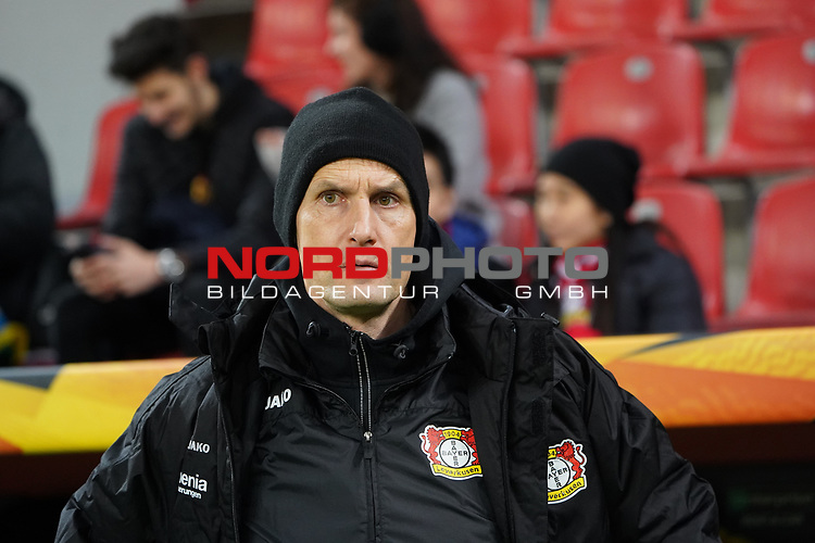 29.11.2018, BayArena, Leverkusen, Europaleque, Vorrunde, GER, UEFA EL, Bayer 04 Leverkusen (GER) vs. Ludogorez Rasgrad (BUL),<br />  <br /> DFL regulations prohibit any use of photographs as image sequences and/or quasi-video<br /> <br /> im Bild / picture shows: <br /> Heiko Herrlich Trainer (Bayer Leverkusen),<br /> <br /> Foto © nordphoto / Meuter<br /> <br /> <br /> <br /> Foto © nordphoto / Meuter