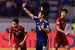 Sakai Hiroki of Japan (C) gestures during the AFC Asian Cup UAE 2019 Quarter Finals match between Vietnam (VIE) and Japan (JPN) at Al Maktoum Stadium on 24 January 2018 in Dubai, United Arab Emirates. Photo by Marcio Rodrigo Machado / Power Sport Images