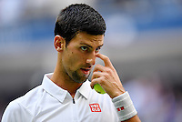 NEW YORK, USA - SEPT 09, Novak Djokovic of Serbia reacts after losing a point against Gael Monfils of France during their Men's Singles Semifinal Match of the 2016 US Open at the USTA Billie Jean King National Tennis Center on September 9, 2016 in New York.  photo by VIEWpress