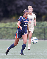 Pepperdine University forward Callie Payetta (11) brings the ball forward. Pepperdine University defeated Boston College,1-0, at Soldiers Field Soccer Stadium, on September 29, 2012.