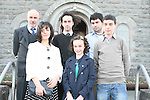 Rebecca Black arrives for her Confirmation in Tullyallen Church with her family, Bernadette, Martin, Nigel, Darren and Jason...Photo NEWSFILE/Jenny Matthews.(Photo credit should read Jenny Matthews/NEWSFILE)....This Picture has been sent you under the condtions enclosed by:.Newsfile Ltd..The Studio,.Millmount Abbey,.Drogheda,.Co Meath..Ireland..Tel: +353(0)41-9871240.Fax: +353(0)41-9871260.GSM: +353(0)86-2500958.email: pictures@newsfile.ie.www.newsfile.ie.FTP: 193.120.102.198.