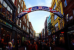 Shoppers on Carnaby Street in London, England.