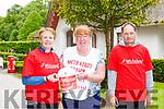Jillian O'Sullivan, Sheila Teahan and Donal McCarthy at the MS walk at Deenagh Lodge on Sunday