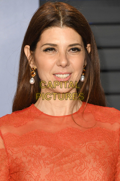 04 March 2018 - Los Angeles, California - Marisa Tomei. 2018 Vanity Fair Oscar Party following the 90th Academy Awards held at the Wallis Annenberg Center for the Performing Arts. <br /> CAP/ADM/BT<br /> &copy;BT/ADM/Capital Pictures
