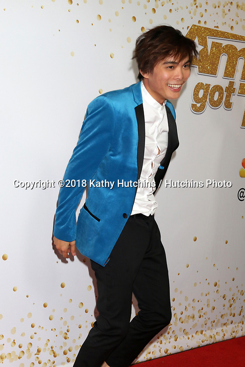 """LOS ANGELES - SEP 19:  Winner of America's Got Talent 2018, Shin Lim at the """"America's Got Talent"""" Crowns Winner Red Carpet at the Dolby Theater on September 19, 2018 in Los Angeles, CA"""