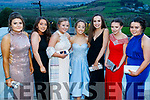 Síomha Hanafin, Clodagh Jordan, Gina Steele, Therese McGovern, Deirbhile Sheehy, Blaithin Sheehy and Melissa O'Donnell, Pobalscoil Chorca Dhuibhne, pictured at the TY Ball, held at Ballyroe Heights Hotel, Tralee, on Saturday night last.