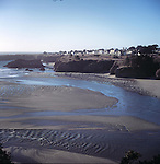 Mendocino, and Big River at low tide
