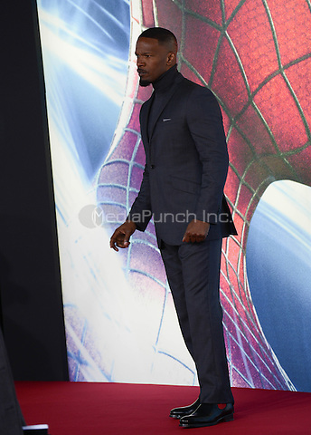 Jamie Foxx attending the &quot;Amazing Spider-Man 2&quot; Premiere at the CineStar IMAX, Sony Center, Potsdamer Platz, Berlin, Germany, 15.4.2014. <br /> Photo by Janne Tervonen/insight media /MediaPunch ***FOR USA ONLY***