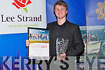 OVERALL: The overall winner of the Lee Strand Garda Youth Award with the winning Trophy and certificate in the Brandon Hotel, Tralee on Friday night, was Sean ONeill Tralee...