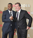 Curtis Jackson aka 50 cent and Piers Morgan attends CNN Heroes - An Allstar Tribute held at The Shrine Auditorium in Los Angeles, California on December 11,2011                                                                               © 2011 DVS / Hollywood Press Agency