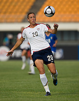 Abby Wambach. The USWNT defeated, 2-0, at the Suwon Sports Center in Suwon, South Korea.