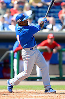 Dominican Republic third baseman Miguel Tejada #4 during a Spring Training game against the Philadelphia Phillies at Bright House Field on March 5, 2013 in Clearwater, Florida.  The Dominican defeated Philadelphia 15-2.  (Mike Janes/Four Seam Images)