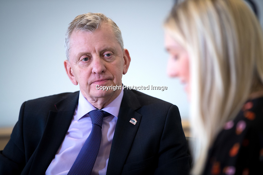 03/04/19<br /> <br /> Builders Merchants Federation, Chief Executive, John Newcomb interview with Mareanne Bradley at Worcester Bosch factory, Worcester.<br /> <br /> All Rights Reserved, F Stop Press Ltd.  (0)7765 242650  www.fstoppress.com rod@fstoppress.com