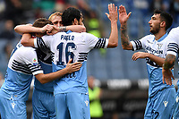Marco Parolo of Lazio celebrates with team mates after scoring a goal  during the Serie A 2018/2019 football match between SS Lazio and Spal at stadio Olimpico, Roma, November 04, 2018 <br />  Foto Andrea Staccioli / Insidefoto