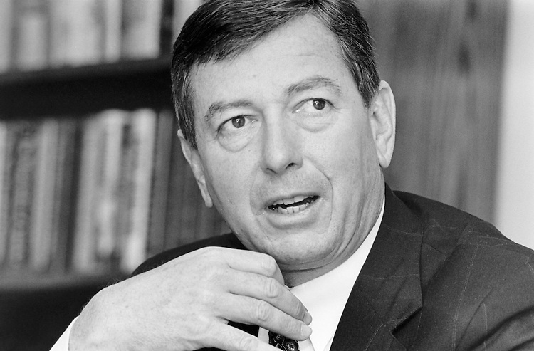 Close-up of Sen. John Ashcroft, R-Mo. in 1998. (Photo by Maureen Keating/CQ Roll Call)