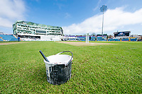 Picture by Allan McKenzie/SWpix.com - 20/04/2018 - Cricket - Specsavers County Championship - Yorkshire County Cricket Club v Nottinghamshire County Cricket Club - Emerald Headingley Stadium, Leeds, England - A general view, GV, of Emerald Headingley Cricket ground with the white paint tub.