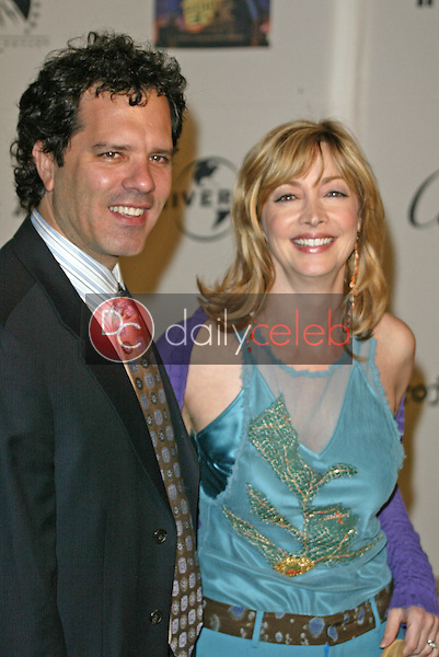 Sharon Lawrence and husband Thomas Apostle<br />