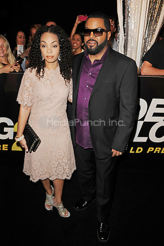 MIAMI BEACH, FL - JANUARY 06: Ice Cube and Kimberly Woodruff attend the world premiere of 'Ride Along 2' at Regal South Beach Cinema on January 6, 2016 in Miami Beach, Florida. Credit: mpi04/MediaPunch