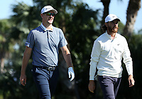 Justin Rose (ENG) and Tommy Fleetwood (ENG) during round 2 of the Honda Classic, PGA National, Palm Beach Gardens, West Palm Beach, Florida, USA. 28/02/2020.<br /> Picture: Golffile | Scott Halleran<br /> <br /> <br /> All photo usage must carry mandatory copyright credit (© Golffile | Scott Halleran)