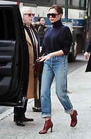 NEW YORK, NY - FEBRUARY 9: Victoria Beckham seen in New York City while in town for NY Fashion Week on February 09, 2018. <br /> CAP/MPI/RW<br /> &copy;RW/MPI/Capital Pictures