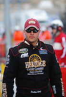 Apr 16, 2009; Avondale, AZ, USA; NASCAR Camping World Series West driver Jonathon Gomez prior to the Jimmie Johnson Foundation 150 at Phoenix International Raceway. Mandatory Credit: Mark J. Rebilas-