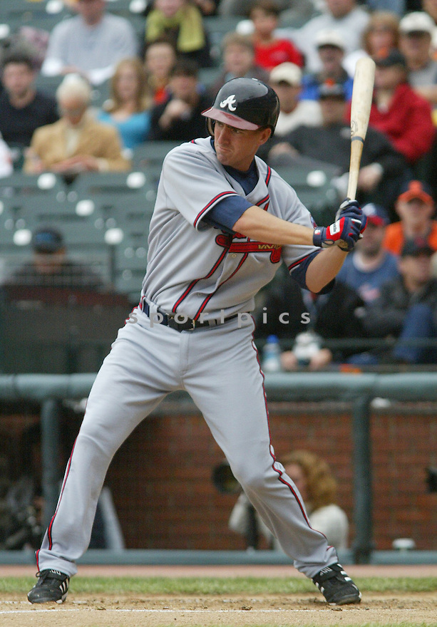 Adam Laroche of the Atlanta Braves, in action against the Giants on April 9, 2006...Giants win 6-5..Rob Holt / SportPics
