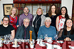 The Thursday Night Writers group Tralee, enjoying a festive meal in Cassidy's Restaurant on Thursday night last.<br /> Seated l-r, Anna Dokurno, Edward Schmidt, Gordon Pinckheard and Davena O'Neill.<br /> Back l-r, Trisha Healy, Martin O'Brien, Christine Zerillo, Barbara Lovric and  Rachel Pinckheard.