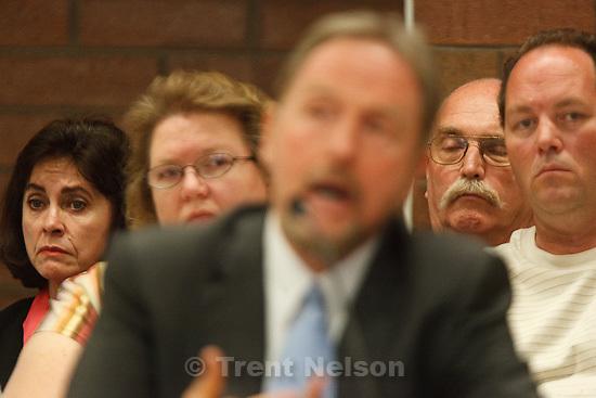 Trent Nelson  |  The Salt Lake Tribune.Draper - Commutation hearing for death-row inmate Ronnie Lee Gardner Thursday, June 10, 2010, at the Utah State Prison. kathy potter, craig watson, as Craig Haney testifies