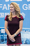 Steffi Graf of Germany, the global ambassador of Zhuhai WTA Elite Trophy 2017, attends tennis clinic at plaza of Zhuhai International Convention and Exhibition Centre on November 04, 2017 in Zhuhai, China. Photo by Yu Chun Christopher Wong / Power Sport Images