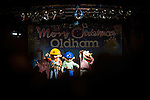 © Joel Goodman - 07973 332324 . 17 November 2013 . Oldham , UK . Bob the Builder franchise on the stage . The Christmas lights are turned on in Oldham Town Centre . Photo credit : Joel Goodman