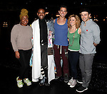 Da'Vine Joy Rndolph, James Brown III, Richard Fleeshman, Caissie Levy & Bryce Pinkham.attending the Broadway Opening Nigh Gypsy Robe Ceremony for 'GHOST' honoring recepient James Brown III at the Lunt-Fontanne Theater on 4/23/2012 in New York City.