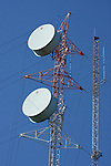 A high communication towers with receiving dishes, Branson Missouri