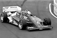 EAST RUTHERFORD, NJ - JUNE 30: Indianapolis 500 winner Danny Sullivan drives the March 85C/Cosworth during the Meadowlands U.S. Grand Prix CART IndyCar race at the Meadowlands Sports Complex in East Rutherford, New Jersey, on June 30, 1985.