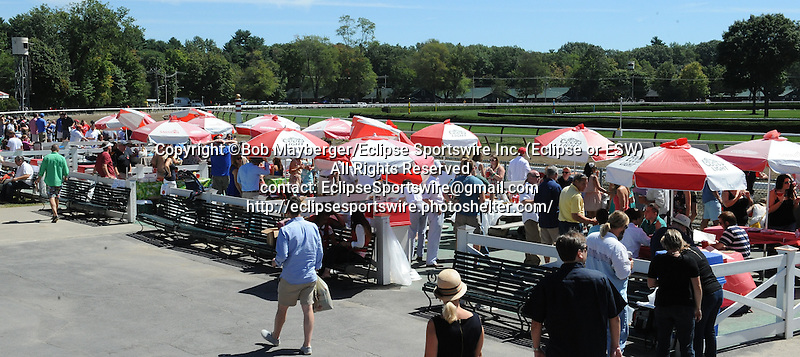 Scenes from around the track on Travers Stakes weekend on August 24, 2013 at Saratoga Race Course in Saratoga Springs, New York.  (Bob Mayberger/Eclipse Sportswire)