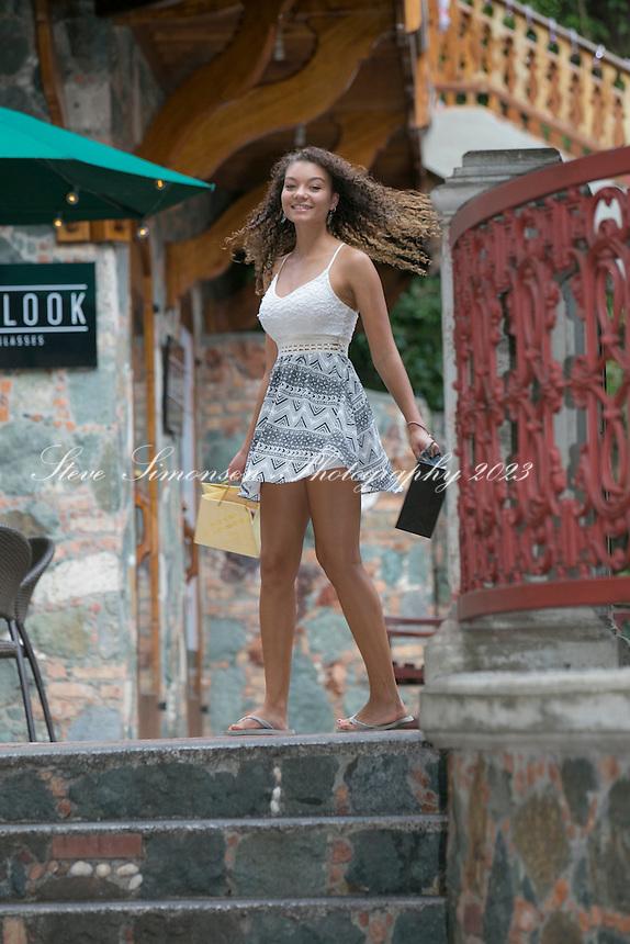 Shoppers at Mongoose Junction<br /> Cruz Bay<br /> St. John<br /> US Virgin Islands