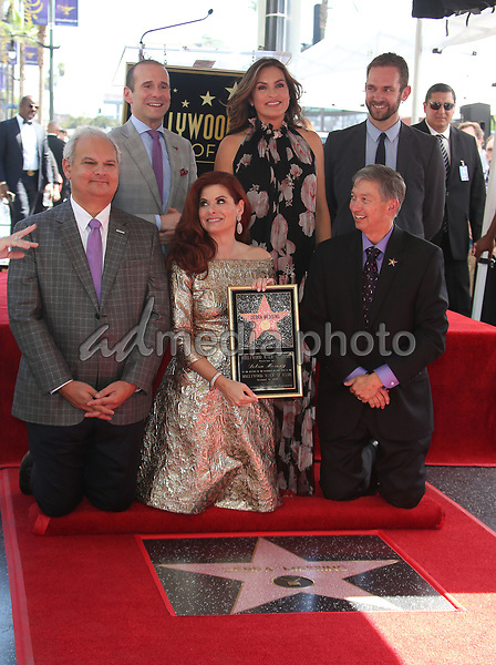 05 October 2017 - Hollywood, California - Debra Messing, Mariska Hargitay, Max Mutchnick, Leron Gubler. Debra Messing Honored With Star On The Hollywood Walk Of Fame. Photo Credit: F. Sadou/AdMedia