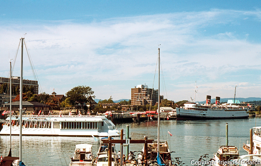 Victoria: Victoria Inner Harbor from Cout St.  Photo '88.