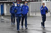 v.l. Mathias Wittek (SV Darmstadt 98), Victor Palsson (SV Darmstadt 98), Florian Stritzel (SV Darmstadt 98), Tobias Kempe (SV Darmstadt 98)<br /> beim Betreten des Merck Stadion am Böllenfalltor - 23.05.2020: Fussball 2. Bundesliga, Saison 19/20, Spieltag 27, SV Darmstadt 98 - FC St. Pauli, emonline, emspor, v.l. Stadionansicht Innenraum, Rasen Uebersicht vor dem Spiel<br /> <br /> <br /> Foto: Florian Ulrich/Jan Huebner/Pool VIA Marc Schüler/Sportpics.de<br /> Nur für journalistische Zwecke. Only for editorial use. (DFL/DFB REGULATIONS PROHIBIT ANY USE OF PHOTOGRAPHS as IMAGE SEQUENCES and/or QUASI-VIDEO)