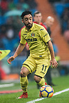 Jaume Vicent Costa Jorda, J Costa, of Villarreal CF in action during the La Liga 2017-18 match between Real Madrid and Villarreal CF at Santiago Bernabeu Stadium on January 13 2018 in Madrid, Spain. Photo by Diego Gonzalez / Power Sport Images
