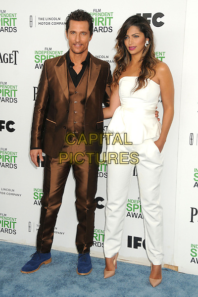 1 March 2014 - Santa Monica, California - Matthew McConaughey, Camila Alves. 2014 Film Independent Spirit Awards - Arrivals held at Santa Monica Beach. <br /> CAP/ADM/BP<br /> &copy;Byron Purvis/AdMedia/Capital Pictures