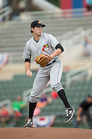 West Virginia Power starting pitcher Alex McRae (30) in action against the Kannapolis Intimidators at Intimidators Stadium on July 3, 2015 in Kannapolis, North Carolina.  The Intimidators defeated the Power 3-0 in a game called in the bottom of the 7th inning due to rain.  (Brian Westerholt/Four Seam Images)