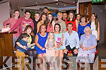 18TH BIRTHDAY: Hollie Lynch, Tralee (seated centre) having a great time celebrating her 18th birthday with family and friends at the Abbey Inn, Tralee on Friday.