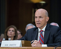 WASHINGTON, DC - NOVEMBER 8:  Richard Smith, Former Chief Executive Officer, Equifax, Inc.testifies at a Congressional hearing on Consumer Data breach.The hearing features testimony from a current and a former official who worked on the response to Yahoo!ís 2013 data breach, which the company announced only last month affected all 3 billion user accounts, as well as the current and former CEO of Equifax, which suffered a 2017 breach reported to affect approximately 145 million individuals, including sensitive personal and financial information. Also testifying will be a witness with expertise on protecting financial data.  Credit: Patsy Lynch/MediaPunch