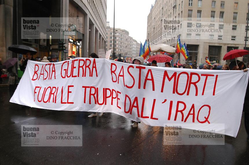 - manifestation for the peace and the retirement of Italian soldiers from Iraq....- manifestazione per la pace e per il ritiro dei militari italiani dall'Iraq