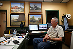 Wendell Huffman, curator of history at the Nevada Railroad Museum, in Carson City,  talks about the historic V&amp;T Coach No. 17 from his office on Friday, June 29, 2018.   <br /> Cathleen Allison/Las Vegas Review-Journal