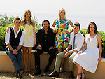 US actors Darin Brooks, Kimberly Matula, Thorsten Kaye, Katherine Kelly Lang, Scott Clifton and Ashleigh Brewer pose during a photocall for the TV show 'The Bold and the Beautiful' as part of the 54th Monte-Carlo Television Festival on June 8, 2014 in Monaco