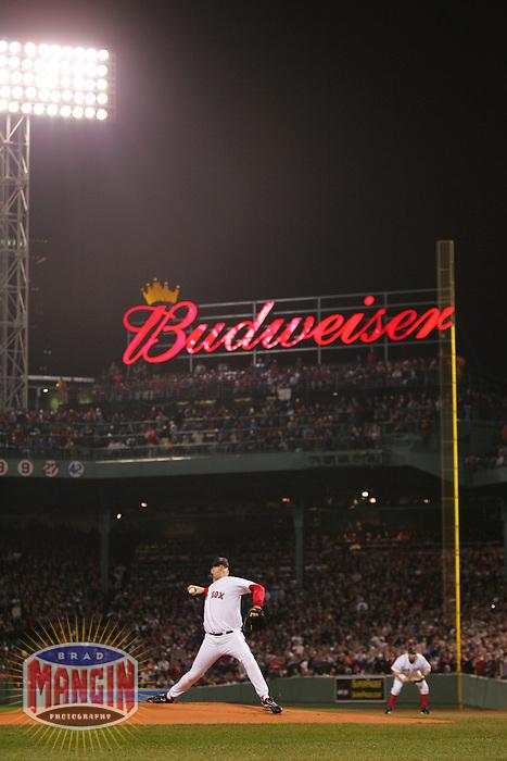 Curt Schilling. Baseball: 2004 World Series. St. Louis Cardinals vs Boston Red Sox. Boston, MA 10/24/2004 MANDATORY CREDIT: Brad Mangin/MLB Photos