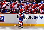 24 September 2009: Montreal Canadiens' left wing forward Sergei Kostitsyn celebrates a goal against the Boston Bruins at the Bell Centre in Montreal, Quebec, Canada. The Bruins edged out the Canadiens 2-1 in an overtime shootout of their pre-season matchup. Mandatory Credit: Ed Wolfstein Photo